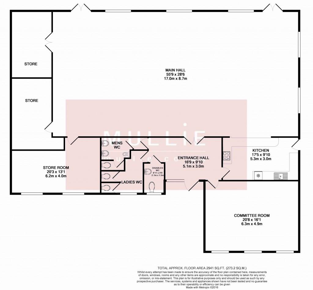 Charvil Village Hall Floor Plan