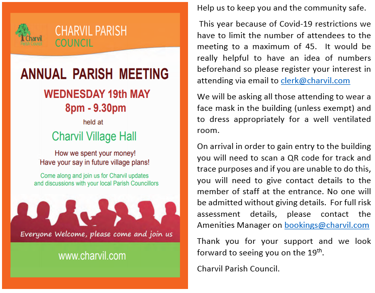 Brief outline of rules for Annual Parish Meeting Attendance